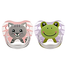 Prevent Printed Shield Pacifier Stage 1 (0-6m) - Pink