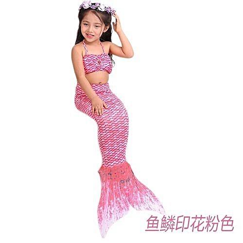 Refined S Dresses Mermaid Print Tail Swimsuit Children Swimming Pink