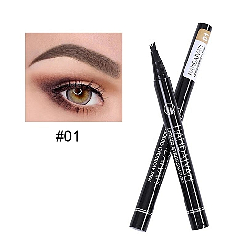 997a923d8aa Generic Hot Sale Stamp Pincel Eyebrow Tattoo Pen Waterproof Eye Makeup 5  Colors Long-lasting Eyebrow Pencil(01 chocolate)