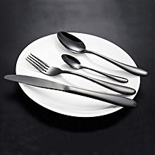 KCASA™ Stainless Steel Black Gold Flatware Dinnerware Cutlery Fork Knife & Spoons Tableware Set