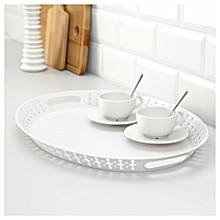 White Oval Serving Tray