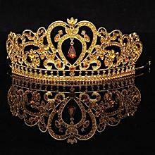 New Gold Bridal Tiaras Crowns Crystal Rhinestone Prom Pageant Wedding Accessories Headpiece Headband Wedding Tiara