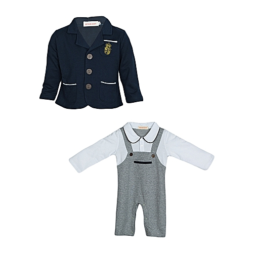 0149e1aa0fd5 Generic Baby Boy Grey Romper Set   Best Price