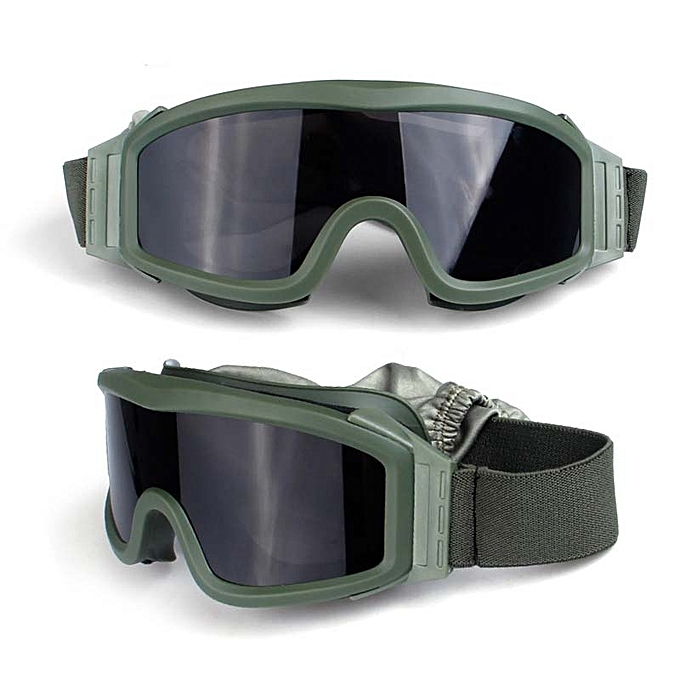 4ce11c20c01b Army Military Tactical Goggles Glasses Paintball Shooting Glasses  Motorcycle Wargame Windproof CS Glasses Wirh 3 Lens