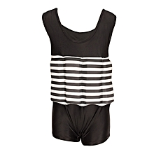 Black & White Stripes Swimsuit With Removable Floating Foams