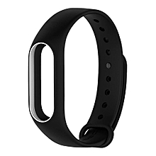Replacement Silicon Bracelet Strap Band For Xiaomi miband 2-Black