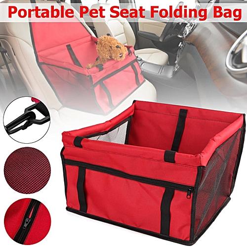 Portable Pet Car Seat Folding Travel Booster Bag Safely Carrier Belt Dog Puppy Red
