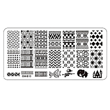 1Pc Nail Art Image Stamping Plates Manicure Stamp Template DIY Template Tool