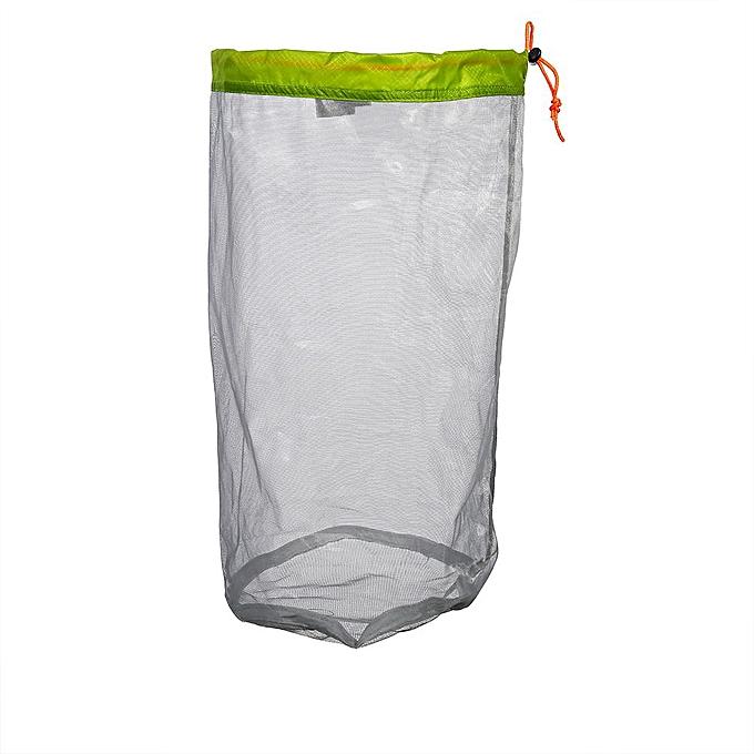 b81f3a2e6de2 Ultralight Mesh Drawstring Sack Outdoor Travel Hiking Camping Stuff Storage  Bag(Green L)