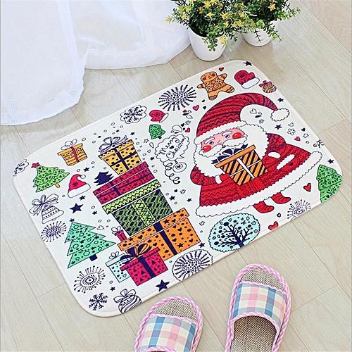 Christmas Absorption Rug Bathroom Mat Shaggy Memory Foam Bath Mat Set kitchen Door Floor Mat Carpet