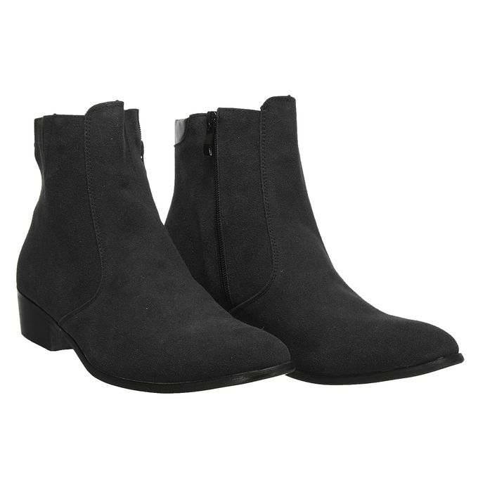 cheap sale new styles order online FASHION MEN'S WINTER CASUAL ZIP FORMAL HEEL POINTED TOE SUEDE ANKLE BOOTS  SHOES