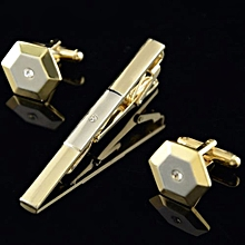 Color Diamond Cufflinks Suit Mens Wedding Party Gift Cuff Link Set
