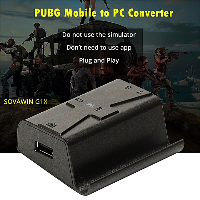 Sovawin G1X Plug and Play PUBG Mobile Gamepad Controller Gaming Keyboard  Mouse Android Phone to PC Converter Adapter l1 r1 CHSMALL