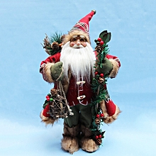 QWERT Christmas Santa Claus Doll Toy Tree Hanging Ornaments Decoration-red