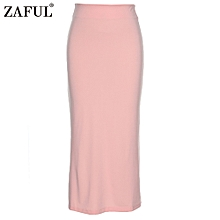 Sexy Pencil Ankle-Length Long Beach Party Slim Flare Skirts - Pink