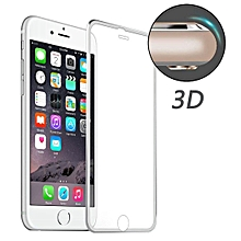 ENKAY for iPhone 6 & 6s Hat-Prince 0.2mm 9H Surface Hardness 3D Aluminum Alloy Curved Edge Explosion-proof Tempered Glass Screen Protector(Silver)