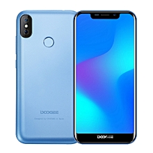 DOOGEE X70, 2GB+16GB, Dual Back Cameras, Face ID & DTouch Fingerprint Identification, 5.5 inch Android 8.1 MTK6580A Quad Core up to 1.3GHz, Network: 3G, OTA, Dual SIM(Blue)