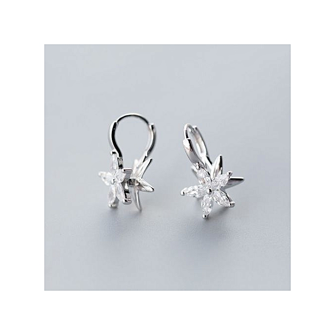 Star Sweet Cubic Zirconia 925 Sterling Silver Earrings