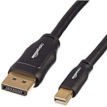 AmazonBasics Mini DisplayPort to DisplayPort Cable - 10 Feet (3 Meters)