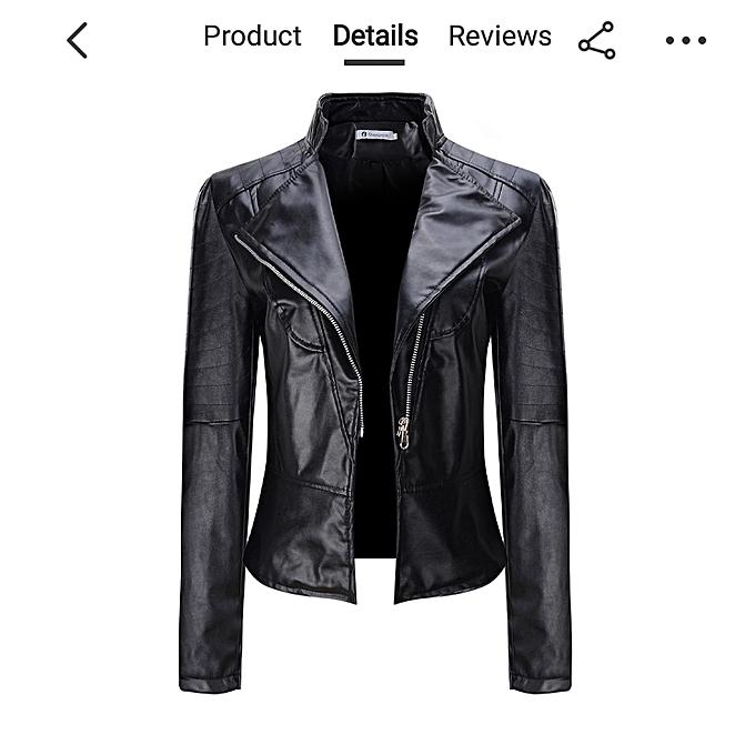 Buy Generic Black Leather Ladies Jacket Best Price Jumia Kenya