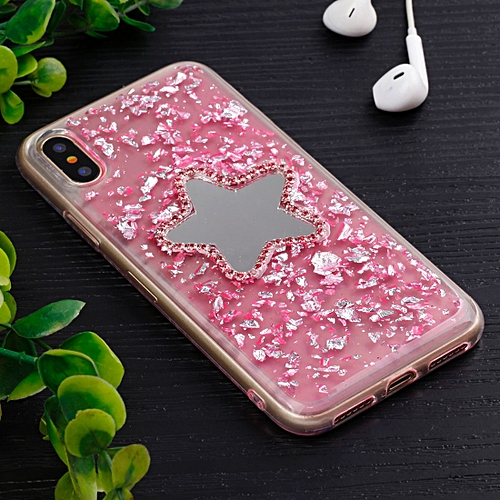 For IPhone X Five Pointed Star Pattern TPU Protective Back Cover Case