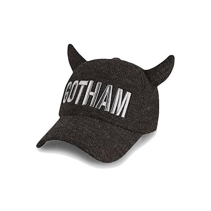 1f2d0283fde1a Fashion Hat Men Women Fashion Winter New GOTHAM Baseball Cap(Brown ...