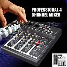 USA Professional 4 Channel Live Mixing Studio Audio USB Mixer Console KTV 48V