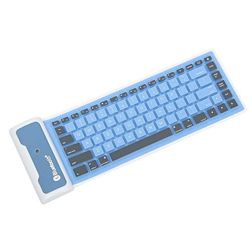 8dd9909fd9b Generic Wireless Bluetooth Mini Waterproof Flexible Silicone Keyboard For Laptop  iPhone #blue