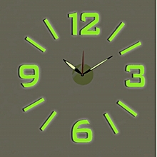 Decorative Wall clock- Green English and Roman Numbers