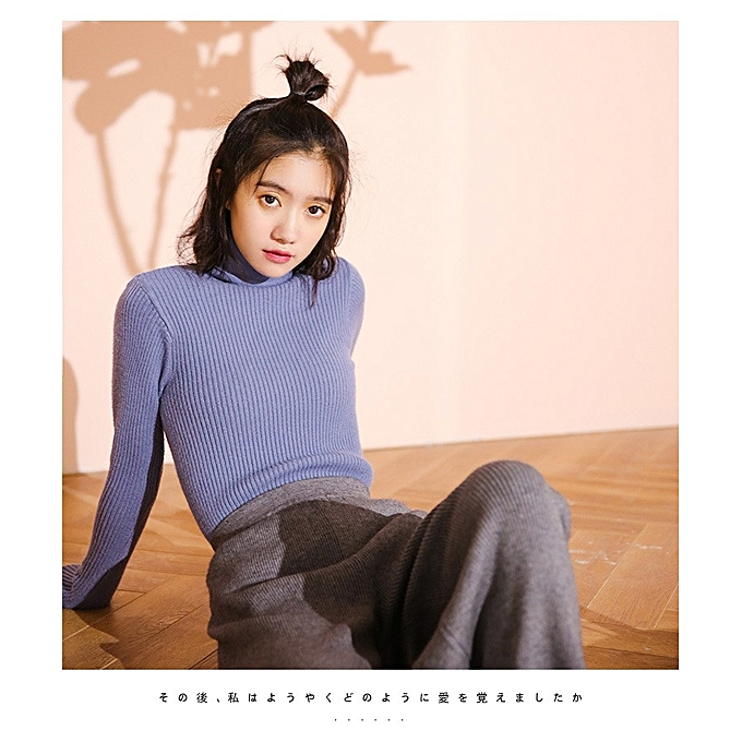 36c925b180 Autumn Winter Women Sweater Korean Knitting High Collar Bottoming Shirt  Tight-fitting Sweater Solid .