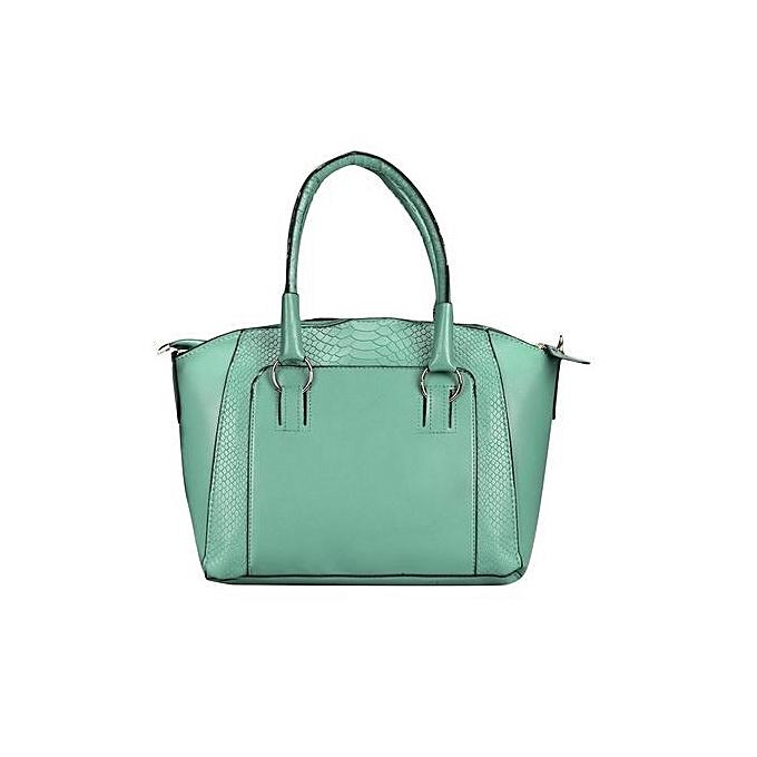 bluerdream-Women Shoulder Bag Faux Leather Satchel Crossbody Tote Handbag  Green-Green 9cd55decf5396