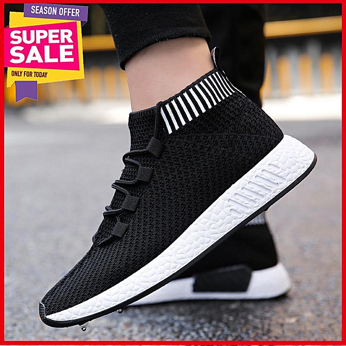 2613c08eb325 High Quality Breathable Mesh Men Casual Shoes Trend Outdoor Hight Top Sock  Footwear Walking Sneakers Male