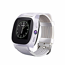 T8 Bluetooth Smart Watches Support SIM &TF Card with Camera Sync Call Message Men Women Smartwatch Watch for Android White
