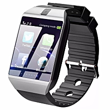 Smart watch camera and sim card support - black