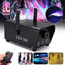 500W RGB LED Smoke Fog Machine Stage Light DJ Disco Party Club Fogger Lamp Remot Plug In US