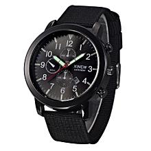 Mens Military Quartz Army Watch Black Dial Date Luxury Sport Wrist Watch