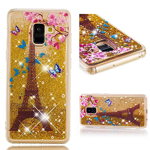 5fe5d3b583efe9 Generic Galaxy A8 Plus 2018 Case, Flowing Liquid Floating Fashion Glitter  Bling Anti-Scratch Soft TPU Bumper Shockproof Protective Case Cover for  Samsung ...