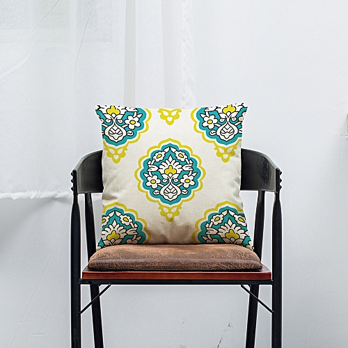 Africanmall Color Geometric Lines Cotton Linen Throw Pillow Case Cushion Cover Home Decor C