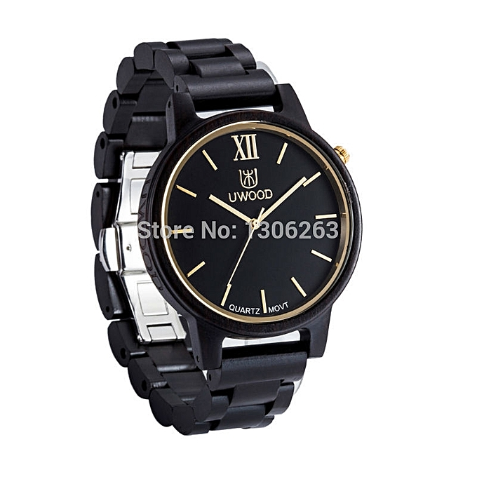 fashion new quartz wristwatches wood watch for men christmas gifts wood watch new hot designer wood - Watch Black Christmas