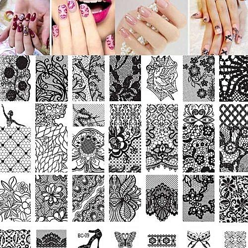 10pcs Women Nail Art DIY Stamp Stamping Image Plate Print Template As