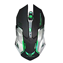 2.4G Wireless Optical Gaming Mouse Rechargeable 2400 DPI for Mac PC(Black)