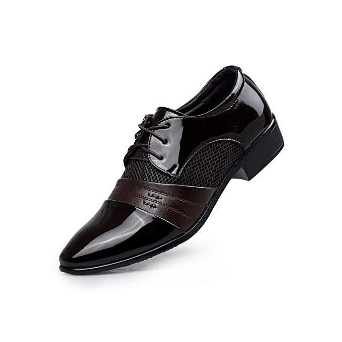 ca279ae24c32 Super Large Size Business Men s Leather Shoes Formal Shoes Basic Flat Super  Fiber