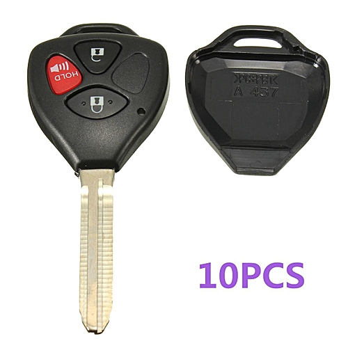 Generic 10Pcs NEW Black 3 Buttons Remote Uncut Blank Key Fob Case Shell For Toyota Scion @ Best Price | Jumia Kenya