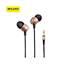 ES - Q8 3.5MM Plug In-ear Earphones Stereo Music Deep Bass Headphones - Rose Gold