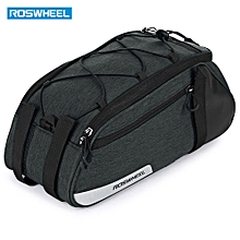 Bike Trunk Bag Multifunctional with Durable 300D Polyester - Gray