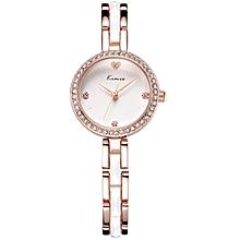 White & Gold Wrist Watch + Gift Box