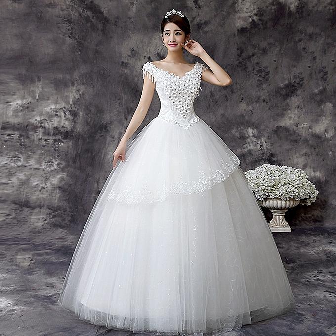 Fashion Premium Wedding Dresses, Deep V Neck Wedding Gown
