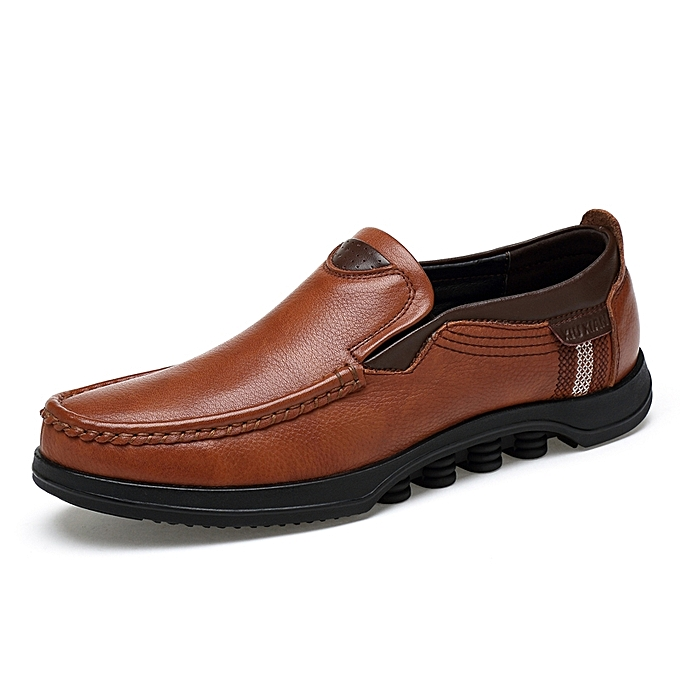 3ca2741e43b SocNoDn Men Fashion Dress Formal Leather Loafers Shoes Luxury Brown ...