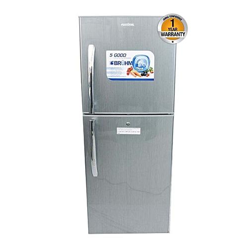 BRD230 - Double Door Refrigerator - 7.5Cu.Ft - 190 Litres - Silver