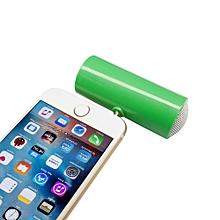 Speaker 3.5mm Music Player Stereo Speaker For iPod iPhone6 Plus Note4 Cellphone GN-Green